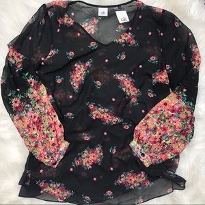 Cabi blooming blouse XL NWT